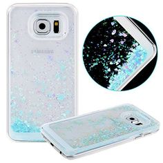 DAMINFE Hard Cover Case for Samsung Galaxy S6,Samsung Galaxy S6 Bling Bling Glitter Case, Luxury 3D Creative Design Funny Cute Flowing Liquid Floating Swimming Love Heart Quicksand Sparkly Transparent Clear Back Dual Layer Protective Case Cover for Samsung Galaxy S6 with Stylus(blue), http://www.amazon.com/dp/B00ZI88Y8O/ref=cm_sw_r_pi_awdm_ITgHvb12AVYGA