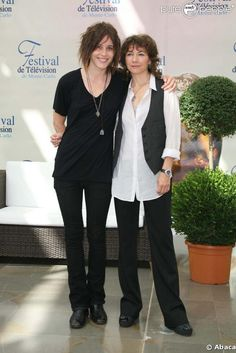 Kate Moennig and Ilene Chaiken, The L Word.