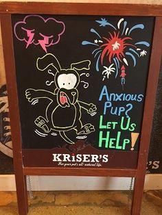 anxious pet wellness supplements chalkboard