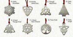 Celtic Christmas Ornaments
