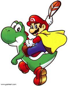 The Cape Feather is a power-up that transforms Mario and Luigi into Cape Mario and Cape Luigi, respectively. It first appeared in Super Mario World. Super Mario Bros, Super Mario World, Mundo Super Mario, Super Mario Kunst, Super Mario Brothers, Super Smash Bros, Super Nintendo, Yoshi Tattoo, Mario Und Luigi