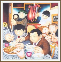 Beryl Cook, Plus Size Art, British Schools, Cafe Art, Funny Sexy, English Artists, Chinese Restaurant, Famous Artists, Comic Art