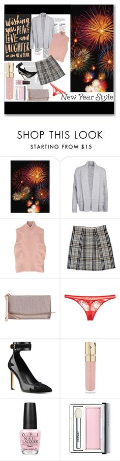 """Pink Touch for New Year"" by elisabetta-negro ❤ liked on Polyvore featuring Barbour, Diesel Black Gold, Burberry, Miss Selfridge, La Perla, Nine West, Smith & Cult, OPI, Clinique and newyear"