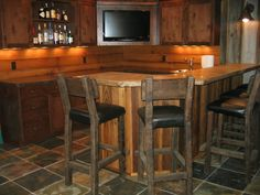 best home bar pictures | rustic basement bar, rustic basement and