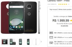 "Smartphone Moto Z Play Dual Chip Android 6.0 Tela 5.5"" 32GB Câmera 16MP << R$ 159999 >>"