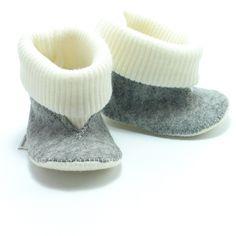 Robin babylaarsjes - Supernana handgemaakte babyslofjes, pantoffels en speeltjes van vilt