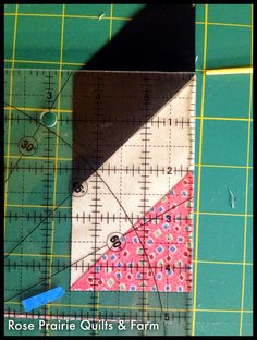 """Rose Prairie Quilts and Farm: Strip piecing multiple diamond-in-rectangle blocks (math here for 2x4"""" FINISHED size, 2-1/2 x 4 1/2"""" UNFINISHED)"""