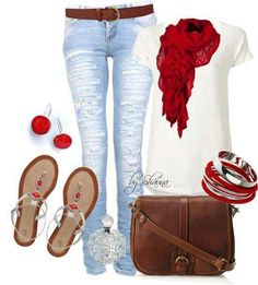I love red in my life