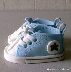 Fondant Chucks - baby boy shoes