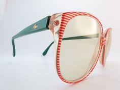 Vintage 80s lacoste sunglasses Mod. 116 Col. 5911 women's medium
