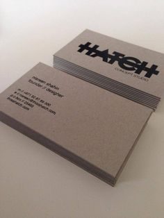 Hatch Business Cards #identity #design
