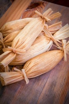 Sweet Coconut Pineapple Tamales   Not many people have tried sweet tamales, however, growing up my grandma always made sweet tamales for us kids. I loved those sweet raisin-filled tamales as a kid and as a mom I wanted to share this childhood treat with my own children. Unfortunately my kids aren't fond of raisins so off to the test kitchen I went.   From: muybuenocookbook.com