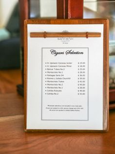 Cuban cigars on the menu at the Bayside Bar