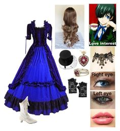 """""""Black butler oc"""" by gglloyd ❤ liked on Polyvore featuring Ciel, Fit-to-Kill, Monsoon and LASplash"""