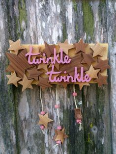 Wooden Star Sign  Twinkle Twinkle by theLambandtheBear on Etsy