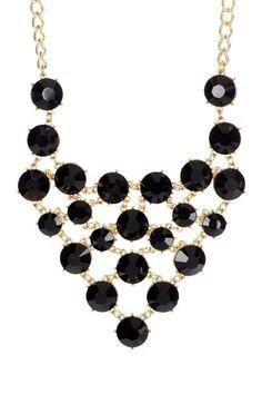 black bib statement necklace