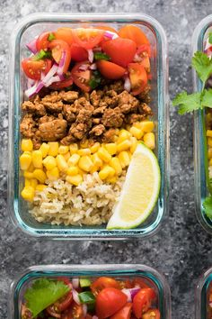 Healthy meal prep lunches that are 400 calories or under, and will keep you feeling full! All calories calculated for you. Healthy meal prep lunches that are 400 calories or under, and will keep you feeling full! All calories calculated for you. Best Meal Prep, Lunch Meal Prep, Meal Prep Bowls, Healthy Meal Prep, Healthy Snacks, Healthy Protein, Dinner Healthy, Clean Eating Recipes, Lunch Recipes