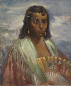 Enrique  Esteve Ochoa pintor español.(Puerto de Santa María, Cádiz, 1890- Palma de Mallorca, 1978). Óleo sobre lienzo.