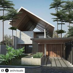 House interior design philippines small 54 new Ideas Modern Tropical House, Tropical House Design, Tropical Houses, Modern House Design, Tropical Architecture, Minimalist Architecture, Architecture Design, Facade Design, Exterior Design