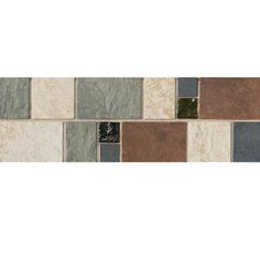 Daltile Continental Slate 4 in. x 12 in. x 6 mm Porcelain Decorative Accent Mosaic Floor and Wall Tile, Universal Slate