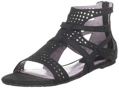 Charles David Women's Grayce Flat Sandal ** Continue to the product at the image link. Flat Sandals, Gladiator Sandals, Shoes Sandals, Heels, Black 7, Charles David, Womens Flats, Wedges, Boots
