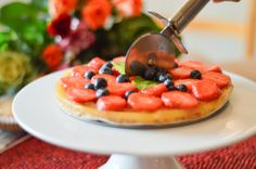 Low Carb Homemade Fruit Pizza