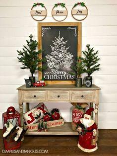 Incredible Rustic Farmhouse Christmas Decoration Ideas 56 #christmastreedecorideas