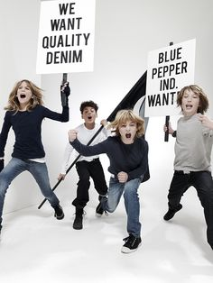 We want quality denim!!! Blue Pepper Industries- Kids Fashion - Photography by Ruud Baan