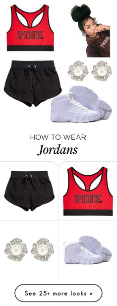 """""""chillin"""" by kittycupkake001 on Polyvore featuring Victoria's Secret, H&M and Kenneth Jay Lane"""