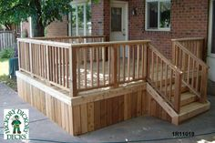 deck design photos | This simple deck plan is for a single level, medium size deck.