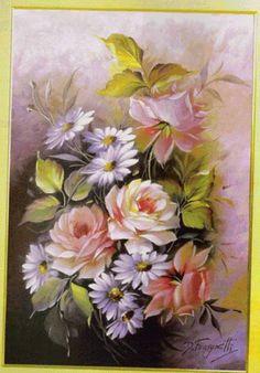 margaréty,ruže - Схемы вышивки - he4lin6da - Авторы - Портал «Вышивка крестом»