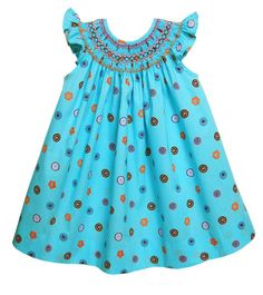 Girls turquoise summer dress – Carousel Wear
