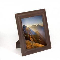 Chocolate Brown Leather 8 x 10 Photo Frame | eBay