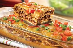 Easy Weeknight Dinner: Cheesy Mexican Casserole. Can we have this tonight, please?