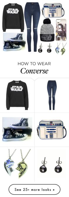 """Stars wars"" by tigerlily789 on Polyvore featuring Tee and Cake, George, Converse and R2"