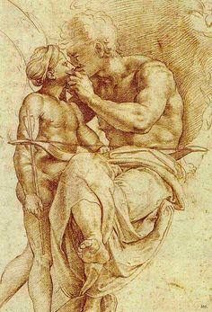 Jupiter and Ganymede. Raffaello Sanzio. Italian. 1483-1520.