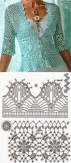 Delicate fabric with crochet bolero | All crochet