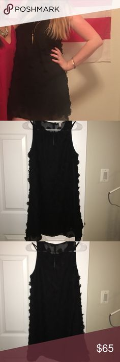 Perfect little black dress Black with black floral appliqués BCBGeneration Dresses Mini