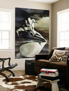 Silver Surfer No.5 Cover: Silver Surfer Wall Mural - AllPosters.ca