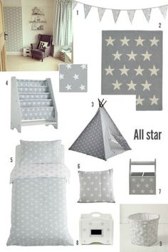 If you're thinking of adding a touch of grey to your children's bedrooms and don't know where to start, or which products would work well together, let us help you with three equally lovely but slightly different mood boards … and with some real life examples from Great Little Trading Co.'s amazingly creative customers.