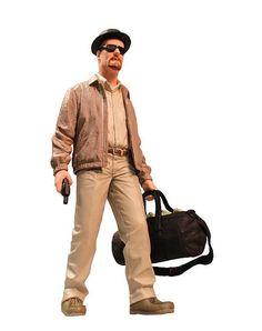 Figura Walter White, Breaking Bad. SDCC 2014 Exclusive 15cm, Mezco Figura de 15cm del personaje de Walter White, protagonista de la premiada serie de televisión Breaking Bad.