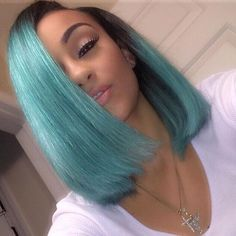 ***Try Hair Trigger Growth Elixir*** ========================= {Grow Lust Worthy Hair FASTER Naturally with Hair Trigger} ========================= Go To: www.HairTriggerr.com ========================= Love this Blunt Cut Ombre Aqua Bob!!