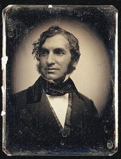 "Henry Wadsworth Longfellow (American poet, ""The Song of Hiawatha"") c. 1850 Daguerreotype, Southworth & Hawes, Metropolitan Museum of Art, New York Paul Revere's Ride, American Poets, American History, Writers And Poets, People Of Interest, Book Writer, We Are The World, Vintage Photographs, Historical Photos"