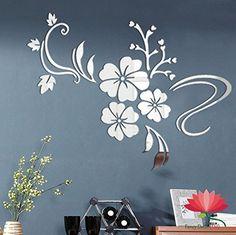 Fancy Decor(TM)Silver Multi-pieces Panels Large Flower Vine Closet Acrylic Decor DIY Mirror Surface Effect 3D Wall Stickers Home Decoration Decor Mural Decal adesivo de parede Removable Fancy Decor(TM) http://www.amazon.co.uk/dp/B014KTIQSE/ref=cm_sw_r_pi_dp_siorwb1D43EQ7