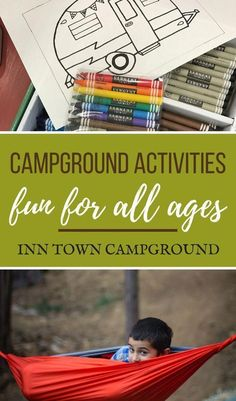 Check out all the Kid Friendly activities that the Inn Town Campground offers and our suggestions for family friendly activities in the surrounding area of Camping List, Camping Games, Camping Checklist, Camping Activities, Camping Equipment, Camping Meals, Camping Essentials, Camping Storage, Camping Organization