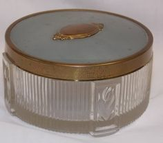 Vintage Art Deco Glass Trinket Box / Jar by ProRebuildingOutlet
