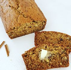This Banana Bread is an absolute staple in my home. It is super moist and very versatile. I almost always use different nuts and flavourings, depending on what I have in my pantry at the time. Moist Banana Bread, Quick Bread, Baking Recipes, Baking Soda, Homemade, Cooking, Simple, Cake, Desserts