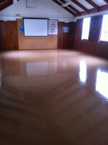 God loves us too!  AFTER PHOTO.   AGENTJ sealed and polished that old Church floor to perfection. No need for lino replacement.  www.agentj.co.nz  0211924368