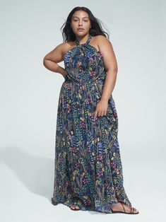 View our Jason Wu/ELOQUII Halter Maxi Dress and shop our selection of designer women's plus size Dresses, clothing and fashionable accessories. Wrap Dress Floral, Lace Midi Dress, Maxi Dress With Sleeves, Dress Tops, Halter Maxi Dresses, Plus Size Maxi Dresses, Plus Size Outfits, Summer Dresses, Jason Wu