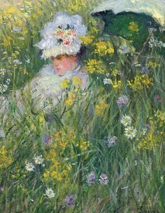 In The Meadow ~ Claude Monet ~ (French 1840-1926)